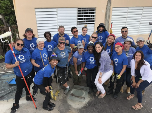 Volunteers in the SUNY Stands with Puerto Rico initiative