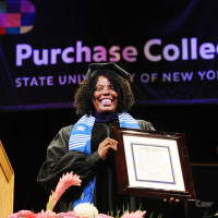 President?s Award for Distinguished Alumni honoree, Latrice Walker, during the Purchase College C...