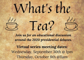 "OCE, NYPIRG, and the Political Science Department present: ""What's the Tea?"" Join us for an..."