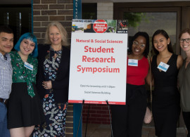 Students and faculty at the 2019 Symposium