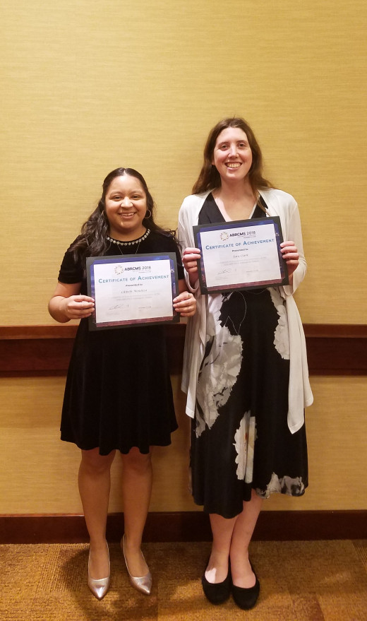 Pictured from Left: Lilibeth Mendoza (Orange County Community College) and Tara Clark (Purchase College)