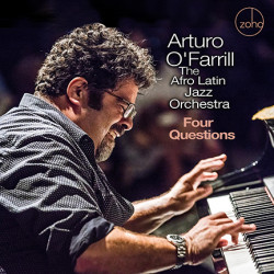Cover of Four Questions album with Arturo O'Farrill playing piano