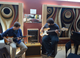Studio Composition students rehearsing