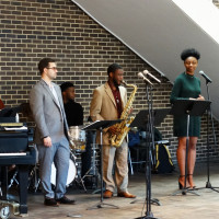 Jazz performers at Kevin Young Poetry in Sound Event, April 10, 2019