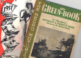 Two travel guides from the 1950s: one for white motorists and one for black motorists