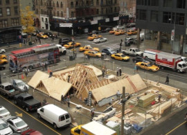 "Public artwork Desert Rooftops, featured in the 2012 New York Close Up film ""David Brooks Tears the Roof Off"""