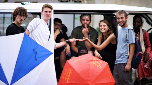 Film crew and actress Livin' in the Rain - Benin