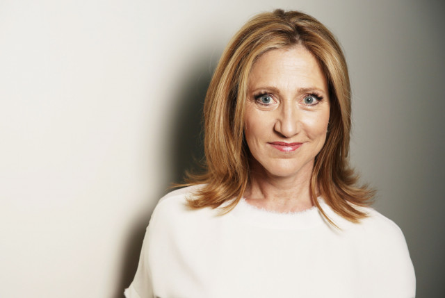 In this April 21, 2015 photo, actress Edie Falco poses for a portrait on Tuesday, April 21, 2015 in Los Angeles. Falco sta...