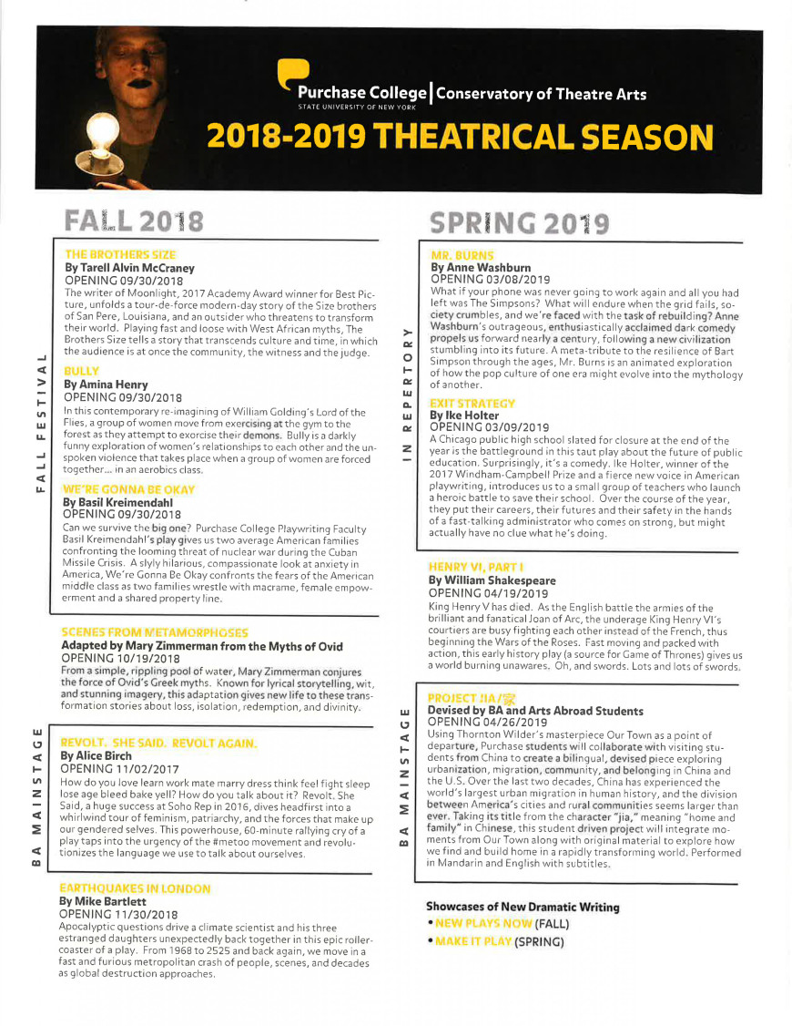 2018-19 Theatrical Season