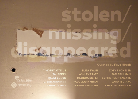 Stolen/Missing/Disappeared: 2016 MFA Group Exhibition