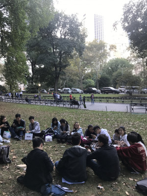 AAP Students in Central Park