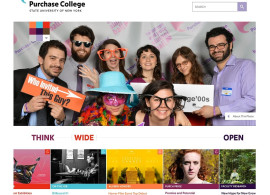 Purchase College home page