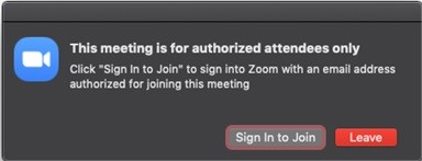 Zoom Authorized User