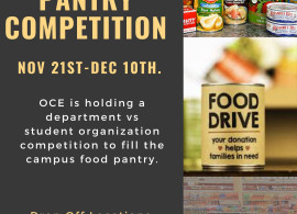 Flyer for food drive competition