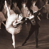 Cynthia Gregory as Odette and Ted Kivitt as Prince Siegfried in Swan Lake.