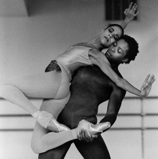 Chicago City Ballet's Maria Terezia Balogh and Joseph Malbrough rehearse Paul Mejia's Webern ...