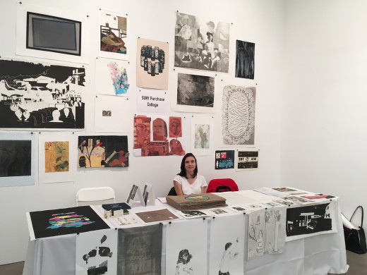 Sanne Vanderveen Printmaking Major at PrintFest in NYC