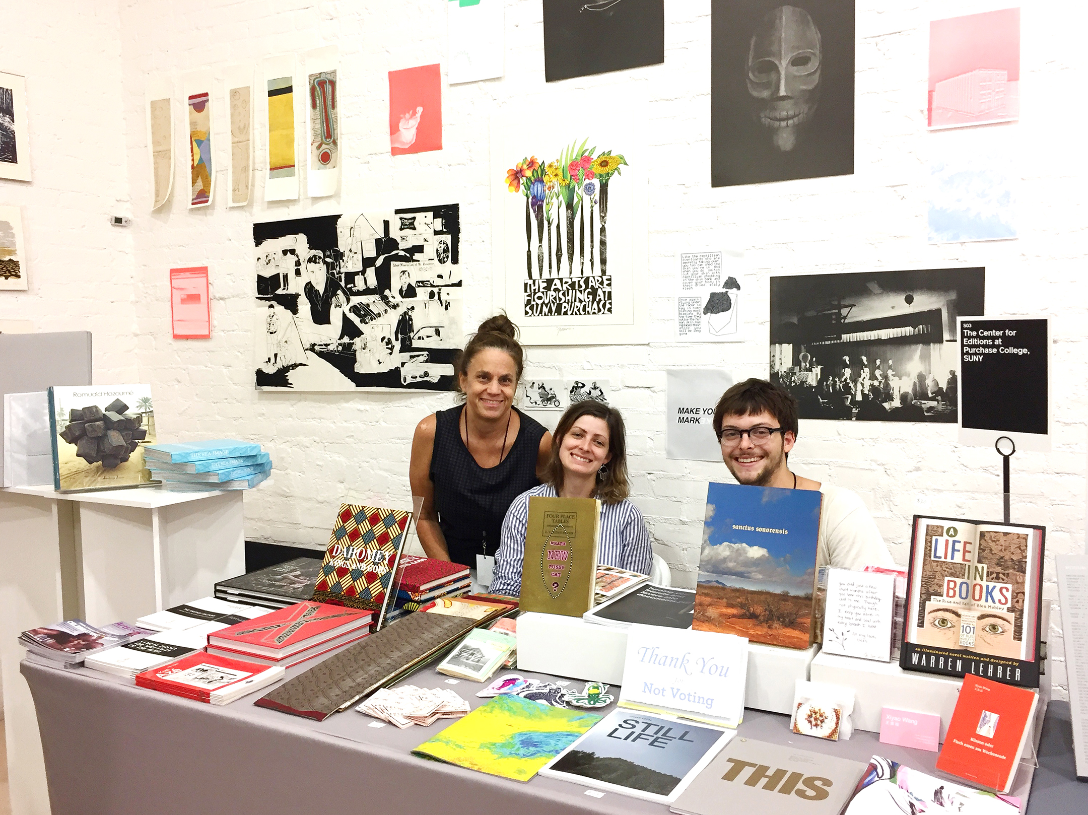 The Center for Editions at the School of Art+Design, Purchase College, SUNY, participates in the New Art Book Fair at PS1 ...