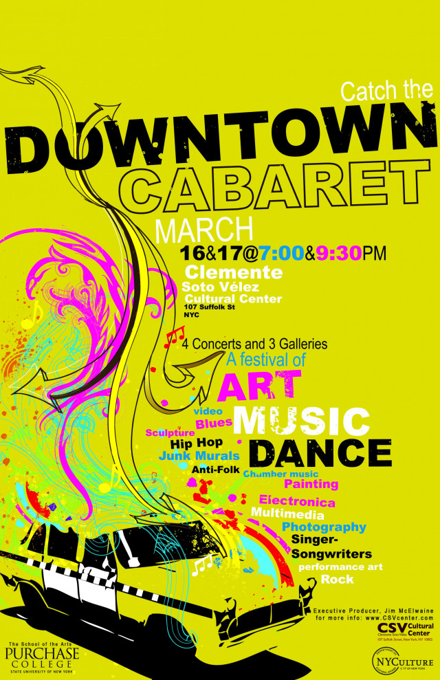 Downtown Cabaret 2008 poster