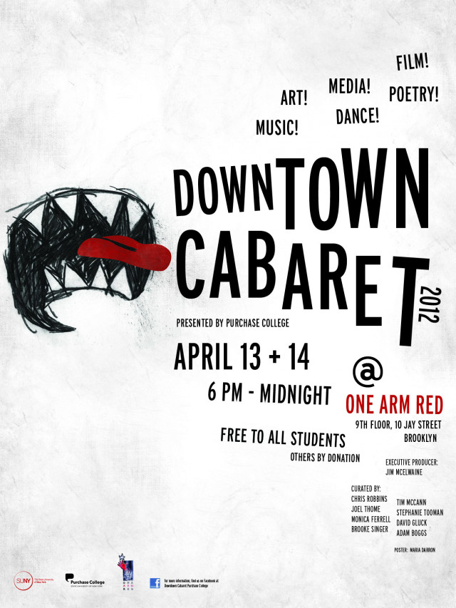 Downtown Cabaret 2012 poster