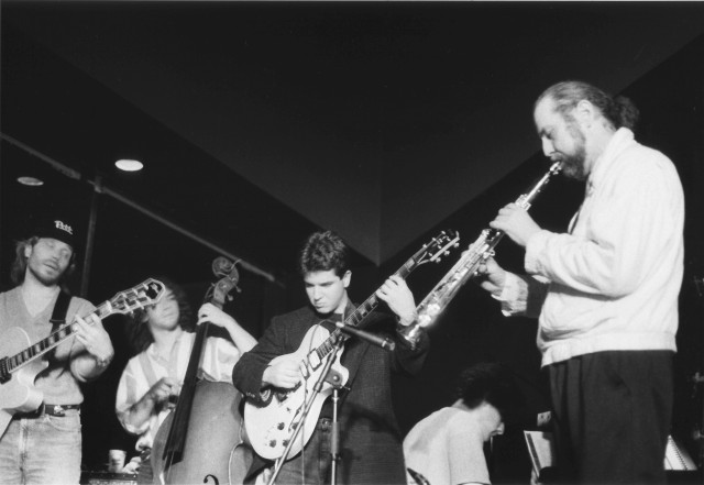 Purchase Jazz Quintet, 1994; Doug Munro, Matt Levy, Gil Parris, Pete Truffa (seated), Jim McElwaine