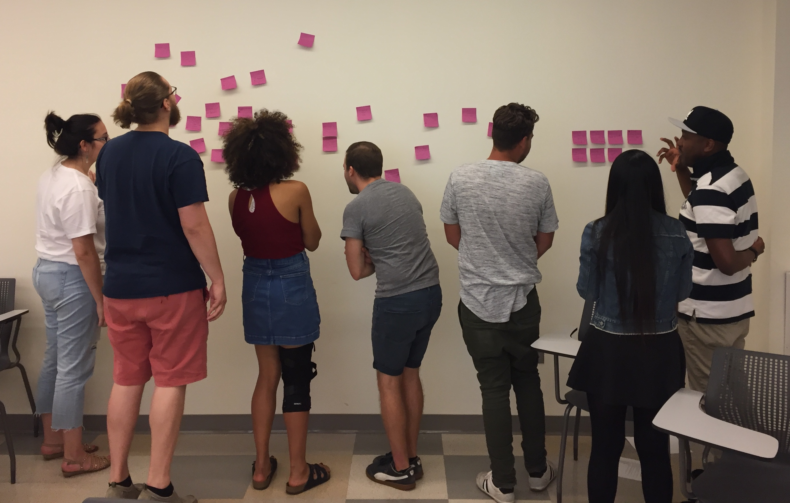 First-semester Entrepreneurship in the Arts students working together to mash-up creative enterprise ideas.
