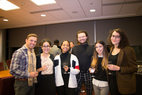Purchase College Startup Pitching Competition: Danny Nardo (judge), Laura Ricciardi, (arts mgmt p...