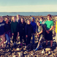 Students at 21st annual crab census