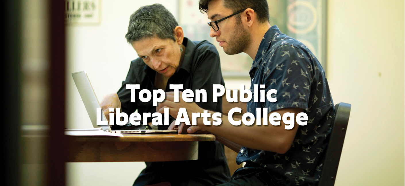 Top Ten Public Liberal Arts College Headline