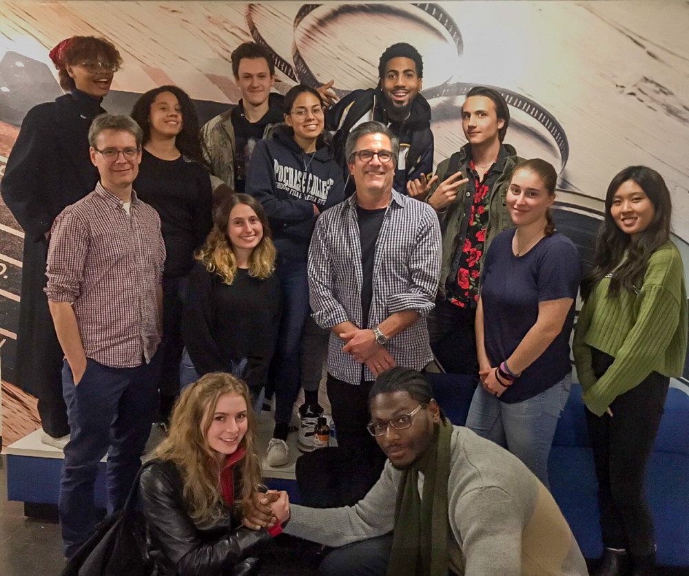 Michael Spiller '84 with current film students