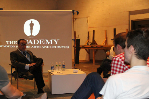 Peter Bogdanovich provided a workshop for film students