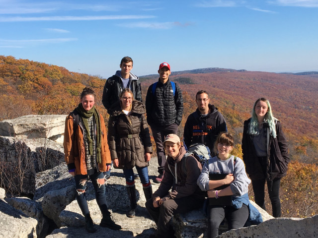 "Field trip for my Geology class to Sam's Point Preserve, in the ""Gunks"""