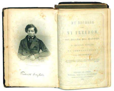 """My Bondage and My Freedom"" by Frederick Douglass, 1855, signed 1st ed."