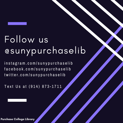 Follow the Library @sunypurchaselib