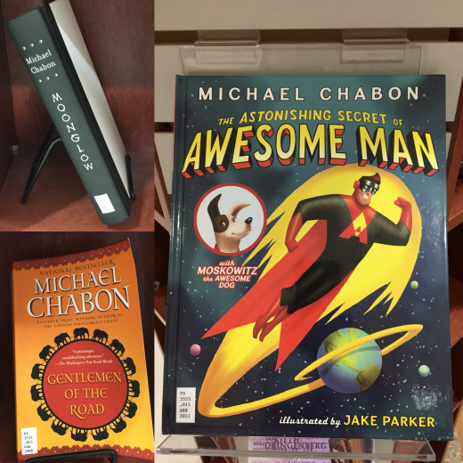Books by Michael Chabon including Moonglow, Awesome Man, and Gentlemen of the Road