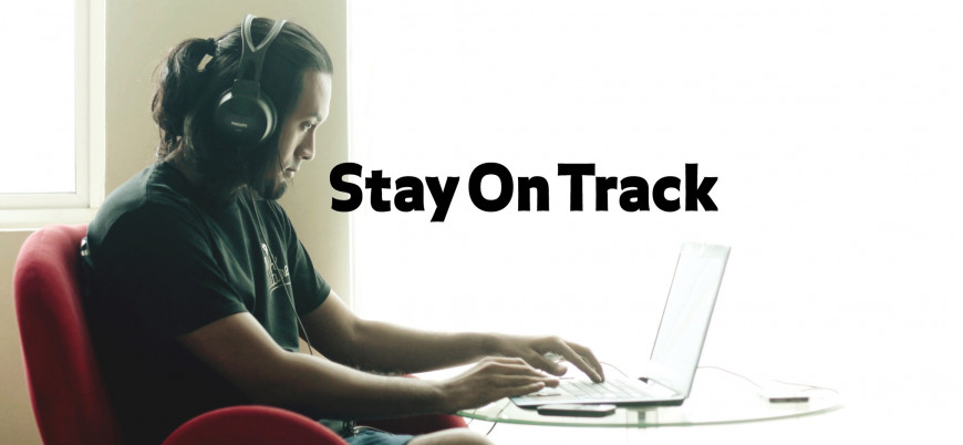 Stay on Track (student works on laptop)