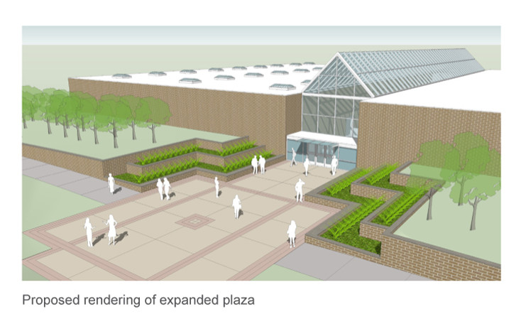 Rendering for Physical Education building rehab project