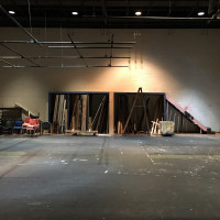 View of existing large sound stage space in Music Building