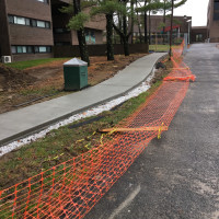 View of new Pine Walk pathway under construction.