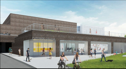 Architect rendering of the entrance to the CMFT