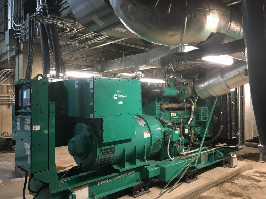 View of New Emergency Generator