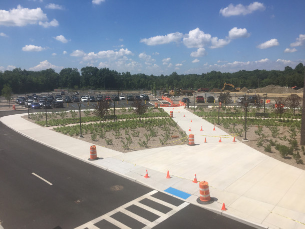 View of West 1 parking lot under construction