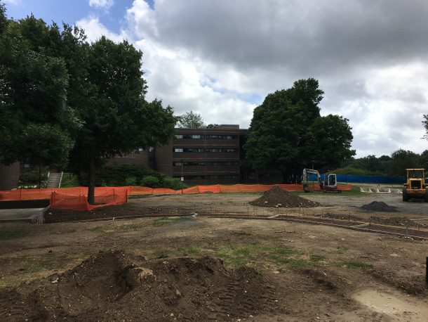 Photo of Quad courtyard under construction